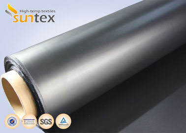 Air Condition System Chemical Resistant Fabric For Flexible Duct Connector Neoprene Black Fiberglass Fabric
